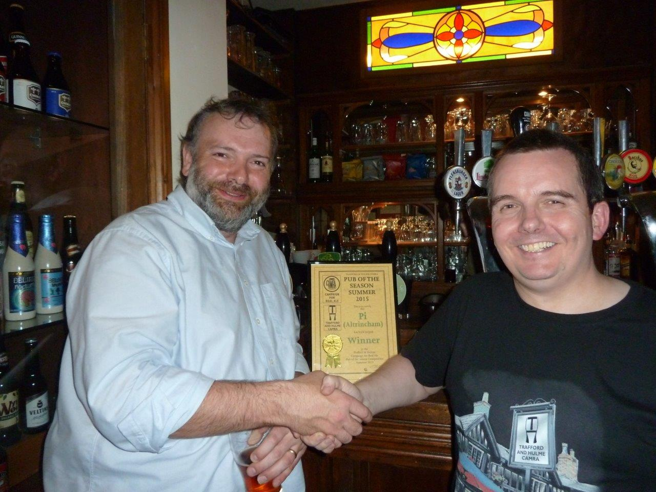 Andy Receiving the presentation from John